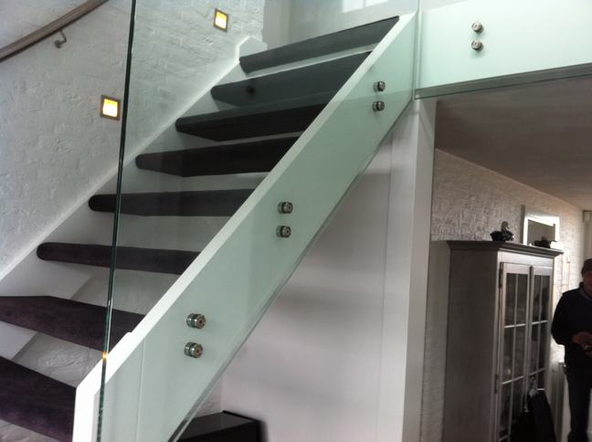 balustrade glas puntbevestiging